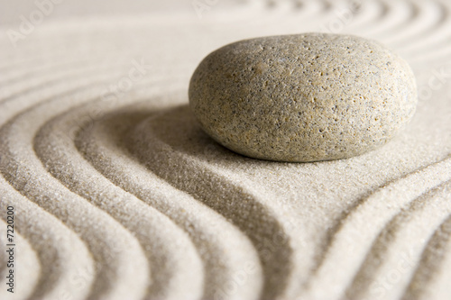 Leinwanddruck Bild Zen stone