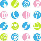 spring circle software icons poster