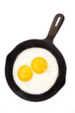 egg on a cast-iron pan