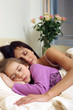 Mother and daughter sleeping 2