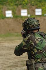 Military training combat - rifle shoot