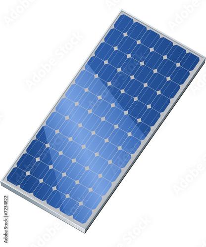 Solarmodul isometrisch