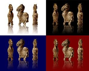 cavallo di bronzo 4 colori