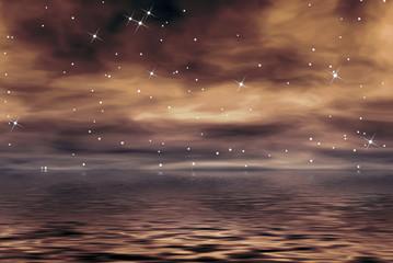 oceano y estrellas