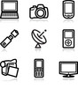 Black contour web icons, set 16