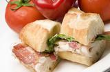 gourmet chicken sandwich poster