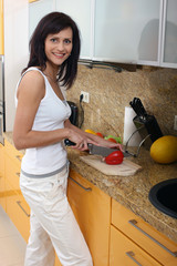 beautiful woman cooking 4