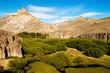 river valley in patagonia desert