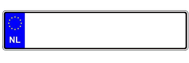 Niederlande - Autokennzeichen