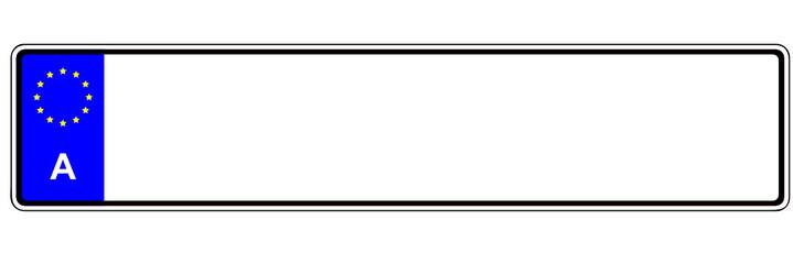 Österreich - Autonummernschild