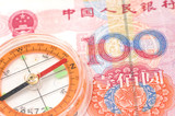 Compass on renminbi poster
