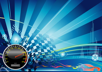 car racing concept design, vector illustration with layer