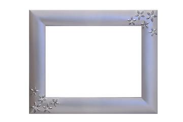 blue silver frame