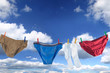 Male underpants and socks on a washing line - 7247804