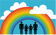 Happy Family under the Rainbow