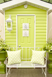 Lime Green Doorway and Patio Furniture poster