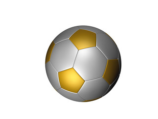soccer ball on white separated