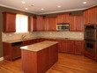 Luxury Cherry Wood Kitchen with Island