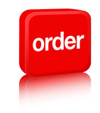 Order Sign - red poster