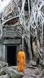moine à Angkor (Cambodge)