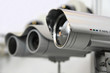 Leinwanddruck Bild - CCTV security cams.