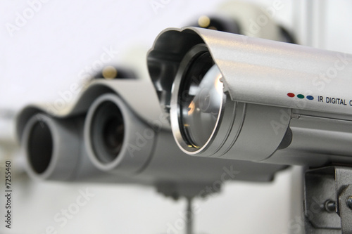 Leinwanddruck Bild CCTV security cams.