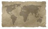 Alte Weltkarte poster