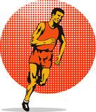 Marathon man sprinting to the finish poster