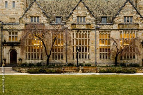 Leinwandbild Motiv Yale University campus at evening, New Haven, Connecticut