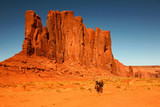 Riding Horses as Recreation in Monument Valley Arizona poster