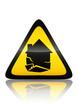 Symbole de danger séisme (reflet métal)