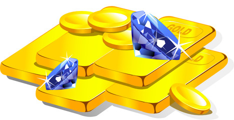 argent - or et diamant
