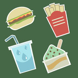 fast food icons 1 poster
