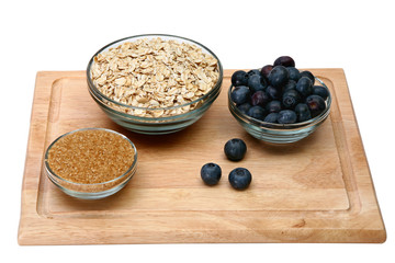 Ingredients for Fresh Blueberry Oatmeal