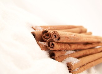 Cinnamon Sticks and Sugar