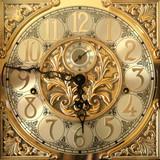 Elegant grandfather clock face poster