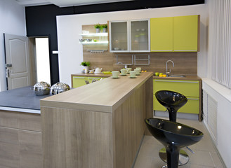 the modern kitchen details