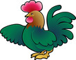 Cute Rooster Farm Animal Vector Illustration
