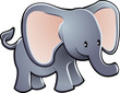 Lovable Elephant Cartoon Vector Illustration