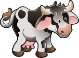 Cute Dairy Cow Vector Illustration poster