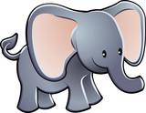 Lovable Elephant Cartoon Vector Illustration poster