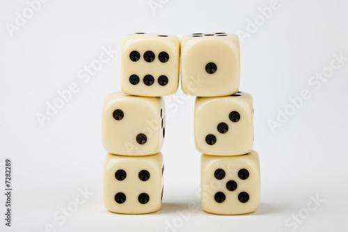 Dice towering - 7282289