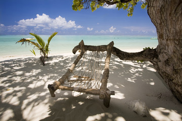 Hammock on beach, Maldives