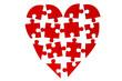 Coeur puzzle morcelé