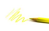 drawn yellow zigzag poster