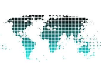 Weltkarte aus Quadraten