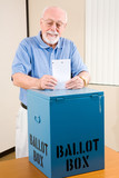 Election - Senior Man Casting Ballot poster