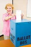 Election - Senior Woman Votes poster