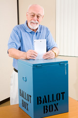 Election - Senior Man Casting Ballot