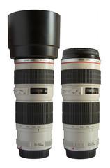 White telephoto lens